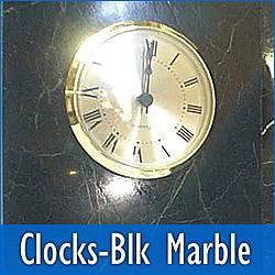 Black Marble Clocks